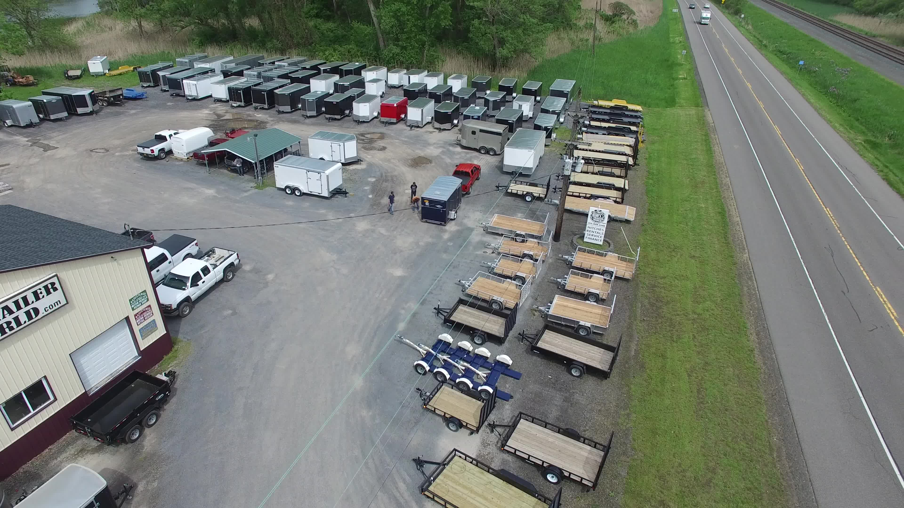 Jims Trailer World Overhead View